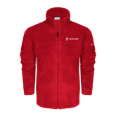 Columbia Full Zip Red Fleece Jacket-University Logo - Flat