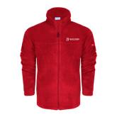 Columbia Full Zip Red Fleece Jacket-University Logo - Flat