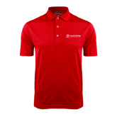 Red Dry Mesh Polo-University Logo - Flat