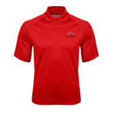 Red Textured Saddle Shoulder Polo-Red Lions Stacked