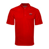 Red Mini Stripe Polo-Red Lions Stacked