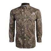 Camo Long Sleeve Performance Fishing Shirt-Red Lions Logo