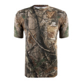Realtree Camo T Shirt w/Pocket-Red Lions Logo