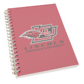 Clear 7 x 10 Spiral Journal Notebook-Combination Mark