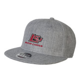 Black Flat Bill Snapback Hat-Red Lions Logo