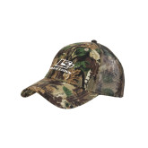Camo Pro Style Mesh Back Structured Hat-Red Lions Logo