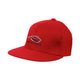 Red OttoFlex Flat Bill Pro Style Hat-Red Lions Stacked