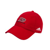 Adidas Red Slouch Unstructured Low Profile Hat-Red Lions Logo