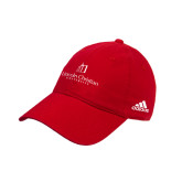 Adidas Red Slouch Unstructured Low Profile Hat-University Logo