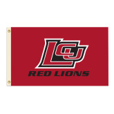 3 ft x 5 ft Flag-Red Lions Logo