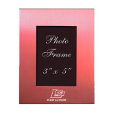 Pink Brushed Aluminum 3 x 5 Photo Frame-Red Lions Logo Engraved