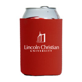 Collapsible Red Can Holder-University Logo