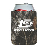 Collapsible Mossy Oak Camo Can Holder-Red Lions Logo