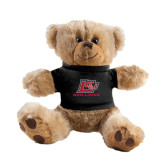Plush Big Paw 8 1/2 inch Brown Bear w/Black Shirt-Red Lions Logo