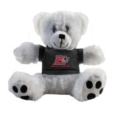 Plush Big Paw 8 1/2 inch White Bear w/Black Shirt-Red Lions Logo