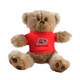 Plush Big Paw 8 1/2 inch Brown Bear w/Red Shirt-Red Lions Logo
