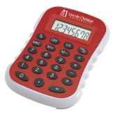 Red Large Calculator-University Logo - Flat