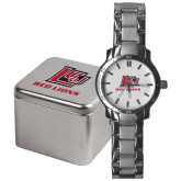Mens Stainless Steel Fashion Watch-Red Lions Logo