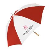 62 Inch Red/White Umbrella-University Logo