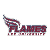 Large Decal-Flames Lee University, 12 inches wide