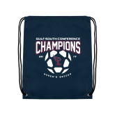 Navy Drawstring Backpack-Womens Soccer Champions