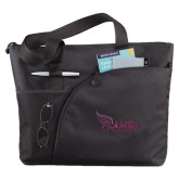 Excel Black Sport Utility Tote-Flames Lee University