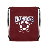 Maroon Drawstring Backpack-Womens Soccer Champions