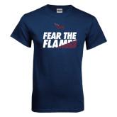 Navy T Shirt-Fear The Flames