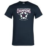 Navy T Shirt-Womens Soccer Champions