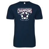 Next Level SoftStyle Navy T Shirt-Womens Soccer Champions