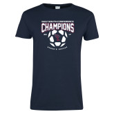 Ladies Navy T Shirt-Womens Soccer Champions