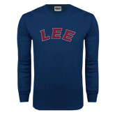 Navy Long Sleeve T Shirt-Arched Lee
