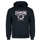 Navy Fleece Hoodie-Womens Soccer Champions