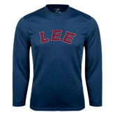 Syntrel Performance Navy Longsleeve Shirt-Arched Lee