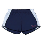 Ladies Navy/White Team Short-Flames Lee University