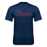 Syntrel Performance Navy Tee-Flames Lee University