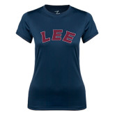 Ladies Syntrel Performance Navy Tee-Arched Lee