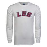 White Long Sleeve T Shirt-Arched Lee