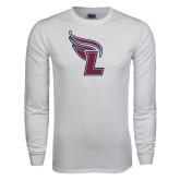 White Long Sleeve T Shirt-L Flame