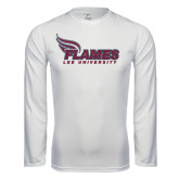 Syntrel Performance White Longsleeve Shirt-Flames Lee University