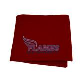 Maroon Sweatshirt Blanket-Flames Lee University