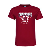 Youth Maroon T Shirt-Womens Soccer Champions