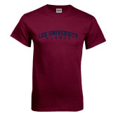 Maroon T Shirt-Arched Lee University Flames