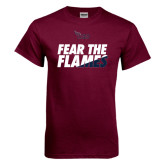 Maroon T Shirt-Fear The Flames