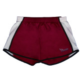 Ladies Maroon/White Team Short-Flames Lee University