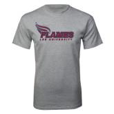 Grey T Shirt-Flames Lee University