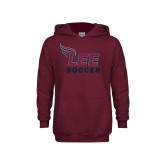 Youth Maroon Fleece Hoodie-Soccer