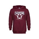 Youth Maroon Fleece Hoodie-Womens Soccer Champions