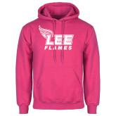 Fuchsia Fleece Hoodie-Official Logo