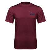 Performance Maroon Tee-Official Logo